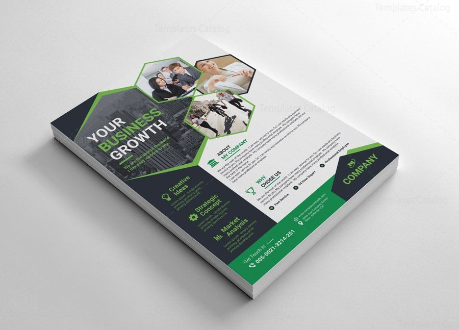 Modern Flyer Templates With Pentagon Shapes - Graphic Templates