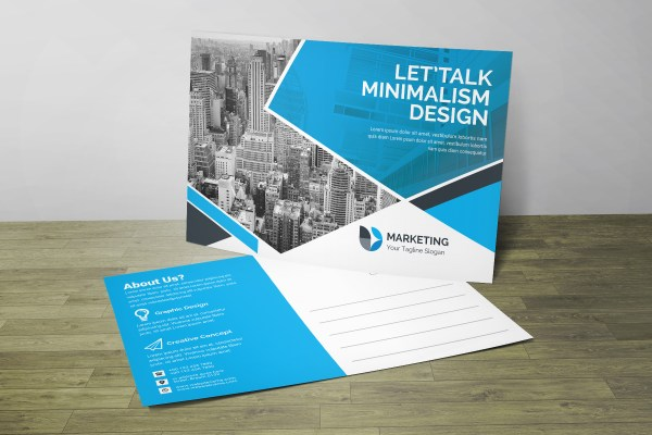 PSD Creative Postcard Design