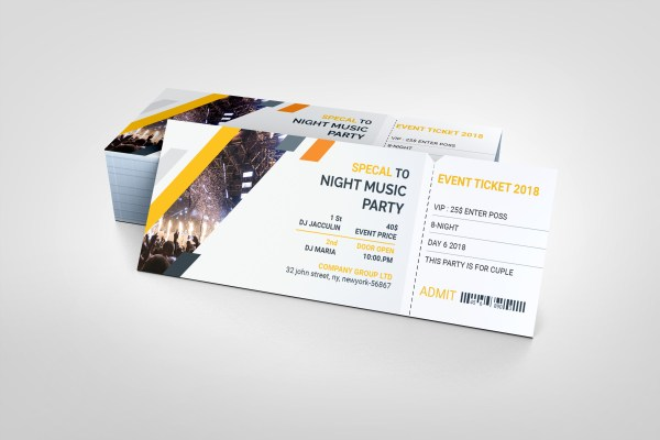 PSD Elegant Ticket Template