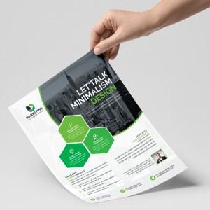 PSD Geometric Business Flyer Templates