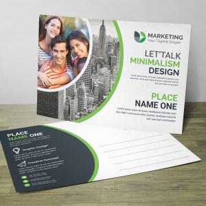 PSD Minimal Postcard Design