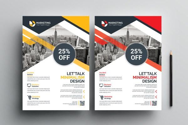 PSD Minimalist Flyer Templates