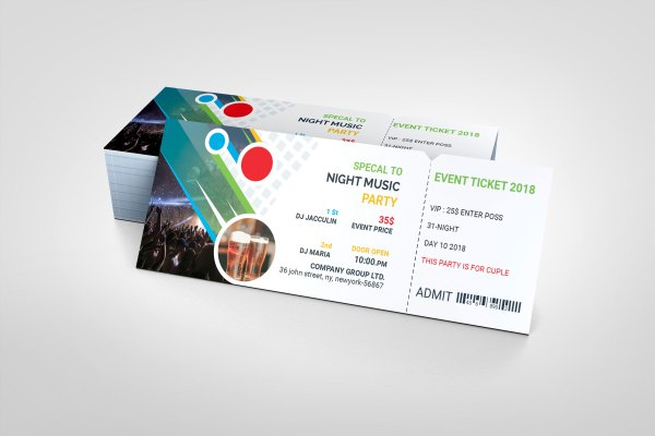 Top PSD Event Ticket Template