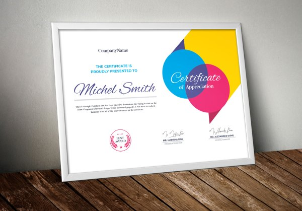 Colorful Certificate Design Template
