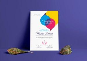 Colorful Certificate Design Template