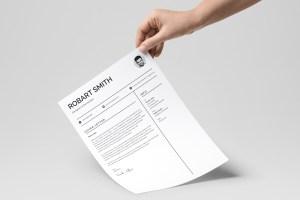 Profile Print Resume Template