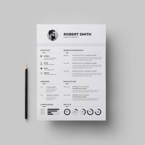 Classic Vector Resume Template