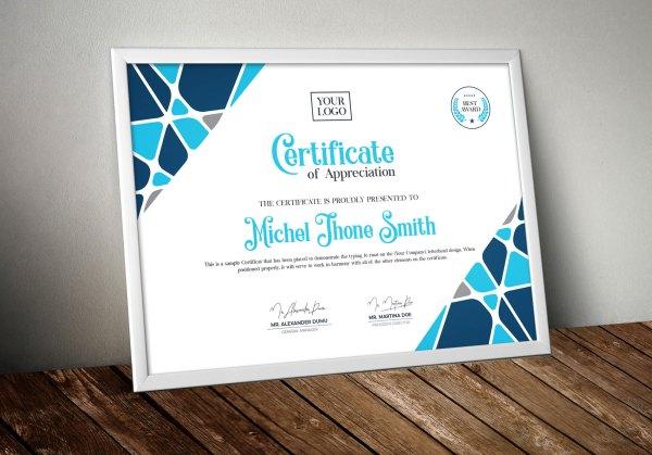 Contemporary Certificate Template