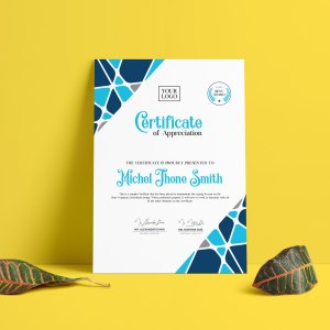 Contemporary Certificate Template