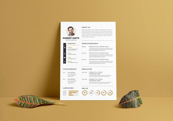 Elegant Vector Resume Template
