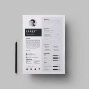 A4 Stylish CV Template