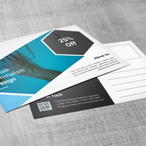PSD Stylish Postcard Templates