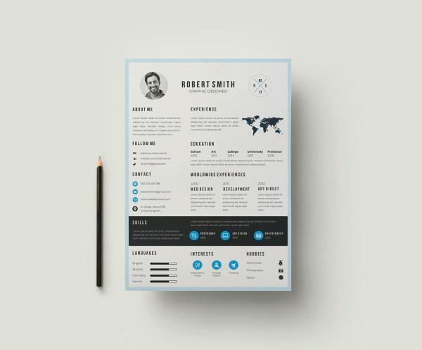 EPS Minimalist Resume CV Template
