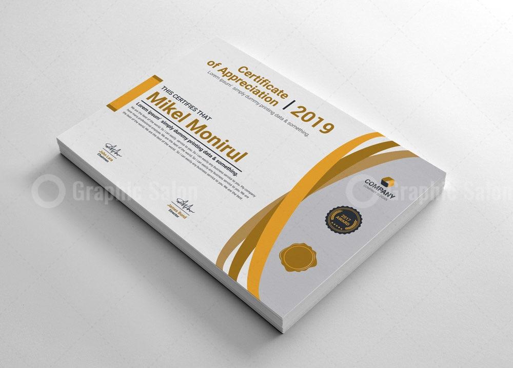 Appreciation Certificate Template Graphic Templates