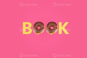Word Book made with doughnuts
