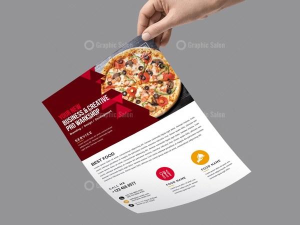 PSD Pizza Flyer Design