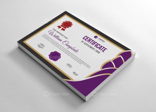High Resolution Certificate Template