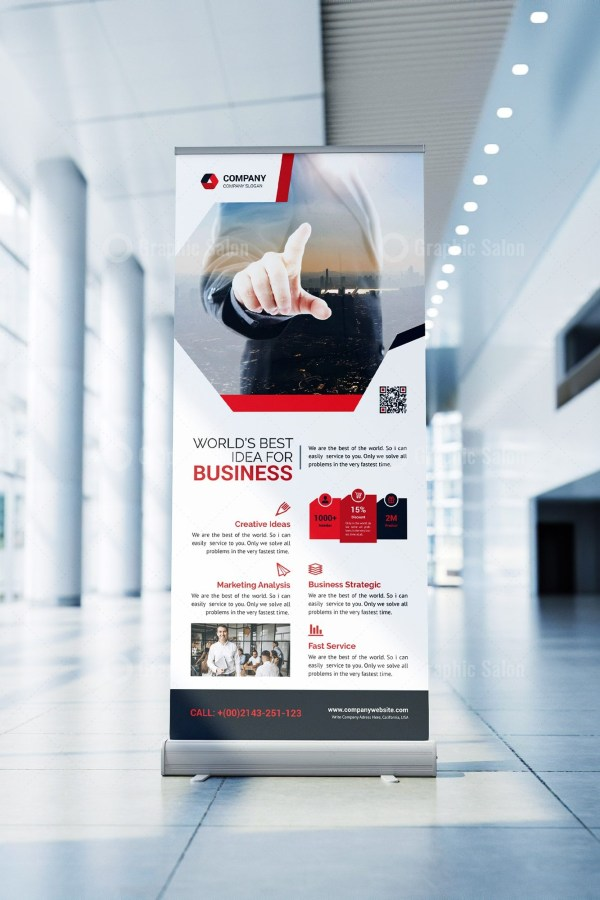 Company Roll Up Banner Template