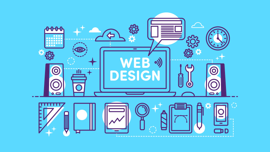 Website Creation with Graphics Design Media