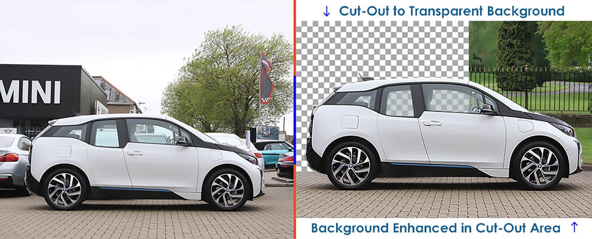 automobile car image cut-out service