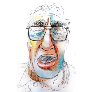portrait homme expression couleur croquis aquarelle
