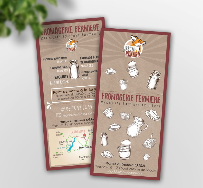 flyers graphiste produits fermiers illustration carte dessinee