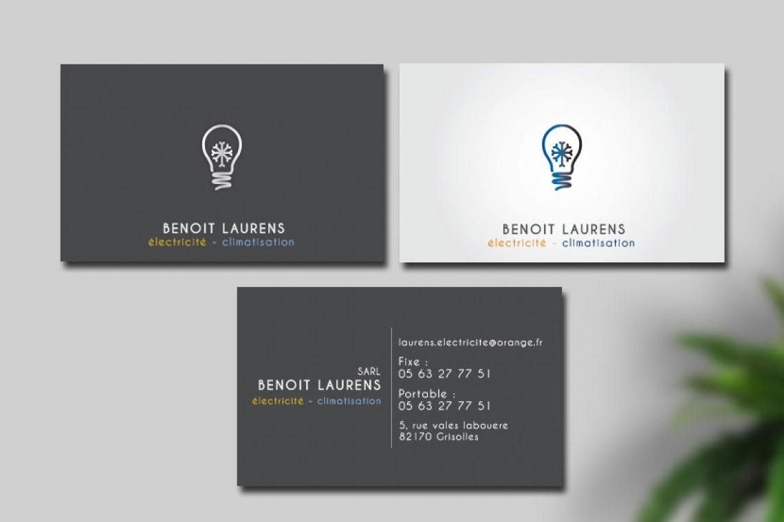 logo et carte de visite electricite design minimaliste
