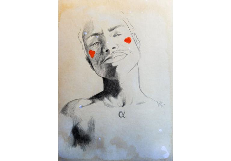 dessin portrait homme noir et blanc alpha artistique