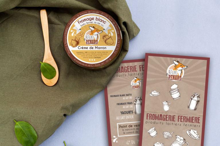 identite visuelle pour ferme produits locaux illustration vintage