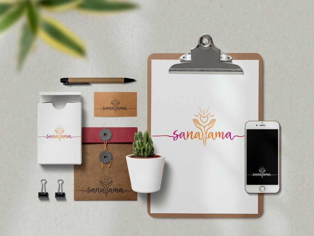 identite visuelle therapeute energetique logo carte de visite