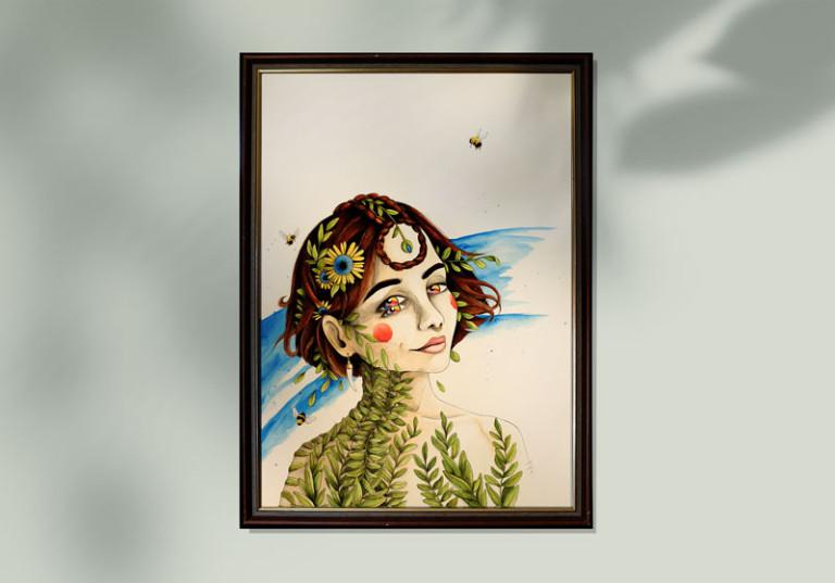 artiste 82 tableau peinture portrait surrealiste mouvement