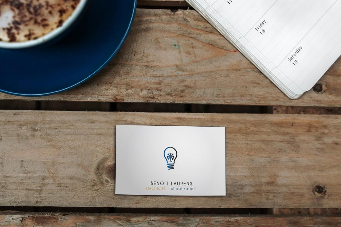 carte de visite et logo epure design simple esthetique
