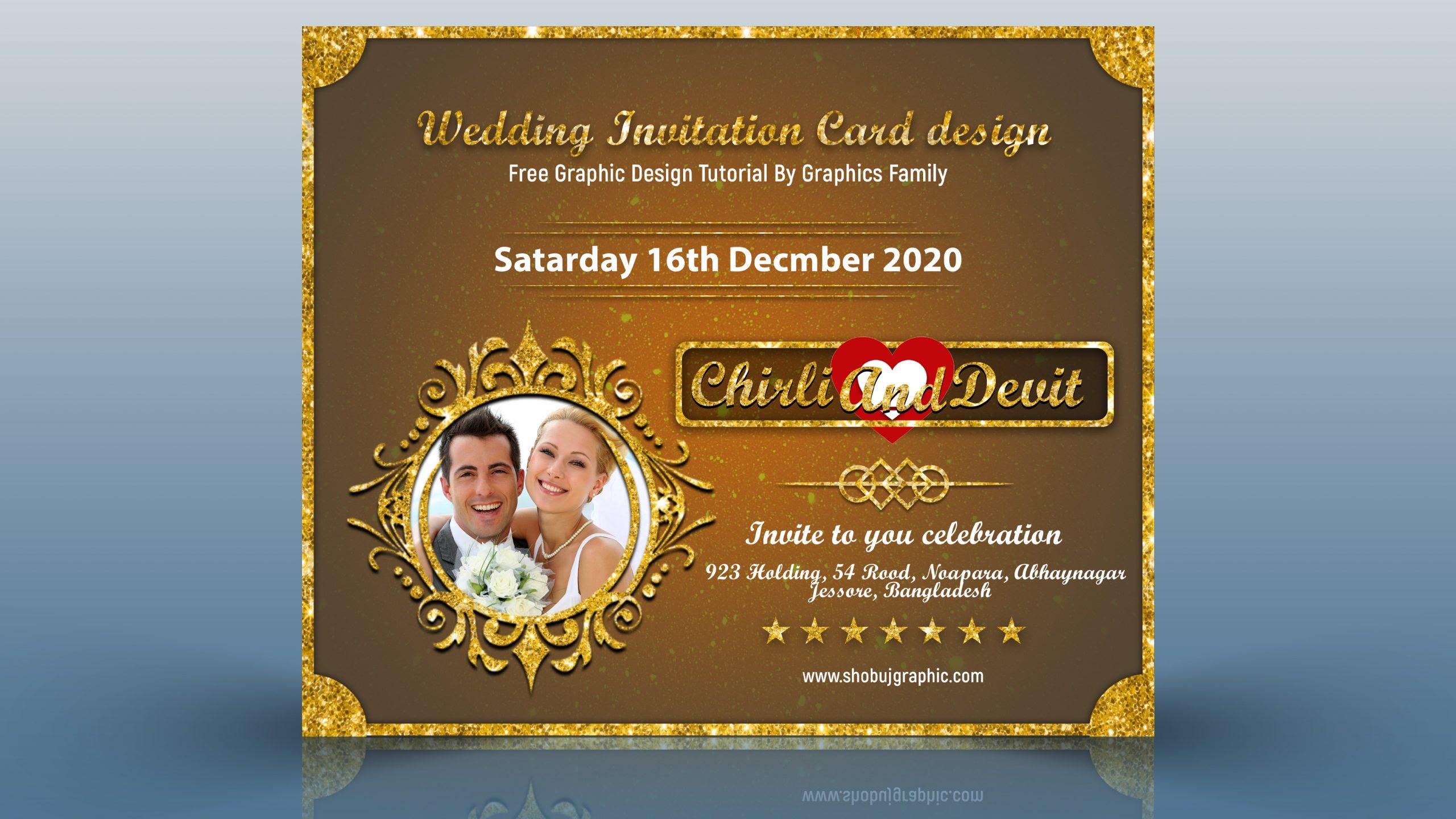 special wedding invitation card design