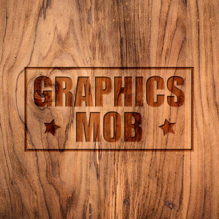 FREE DOWNLOAD Wood Engraved Logo Mockup psd