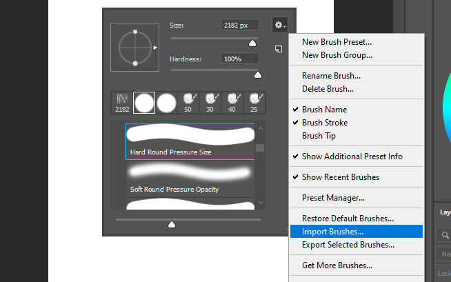 Import brushes