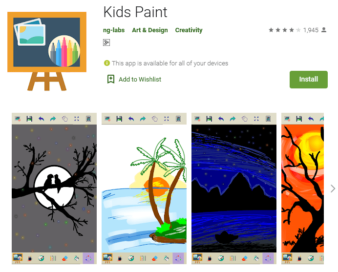 Kids Paint (Free: Android)
