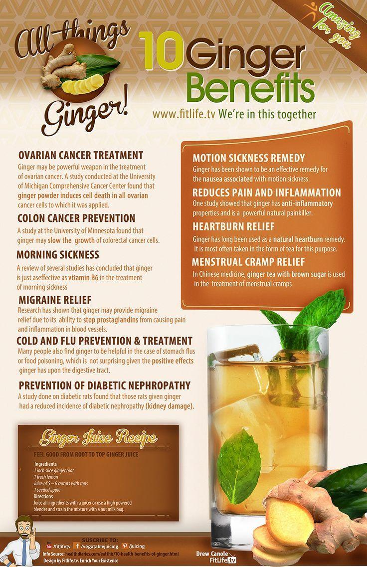 10 Ginger Benefits - Infographics