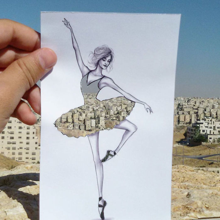 Shamekh Bluwi Uses The Environment To Complete His Fashion Illustrations (11)