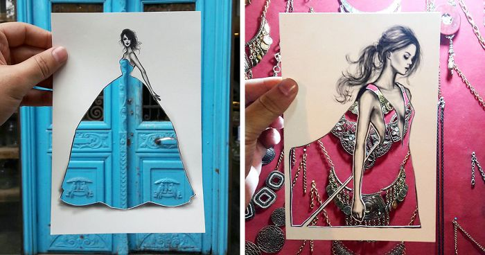 Shamekh Bluwi Uses The Environment To Complete His Fashion Illustrations (14)
