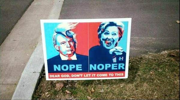 14 Hilarious Political Signs From The 2016 Presidential Campaign (7)