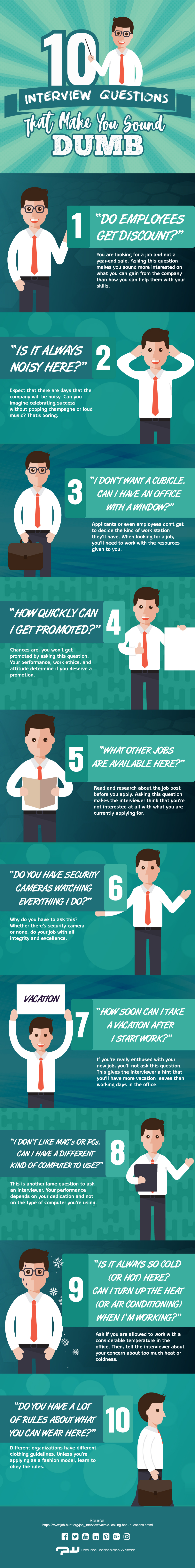 Be Careful About What Questions You Ask In Interviews! - Infographic