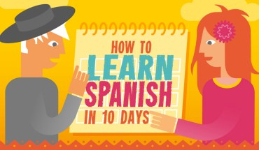 A Guide To Learning Spanish In Just 10 Days! - Infographic