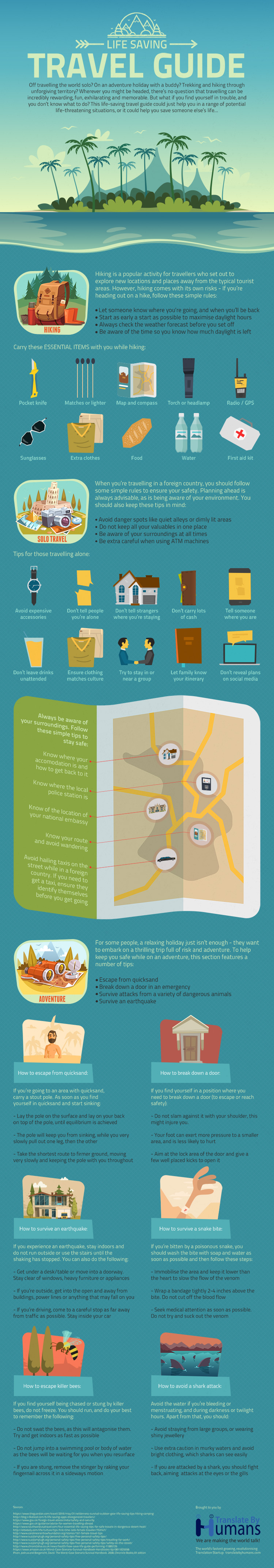A Travel Guide For Emergencies - Infographic