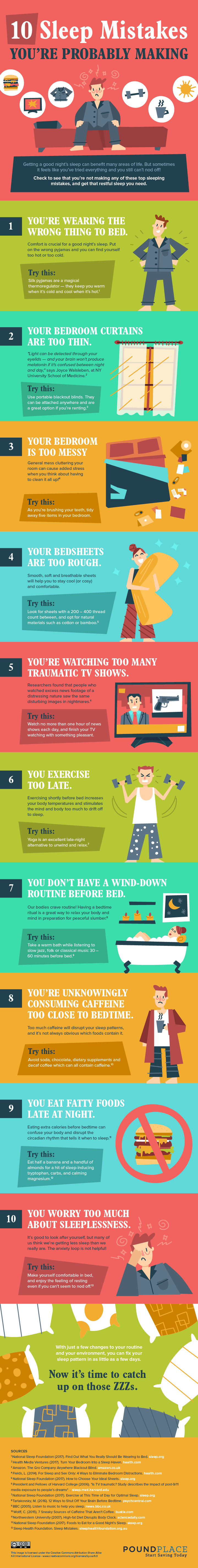 Mistakes You're Probably Making While Sleeping - Infographic