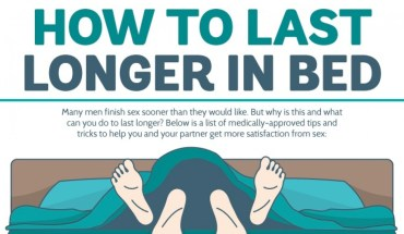 A Guide To Lasting Longer In Bed - Infographic