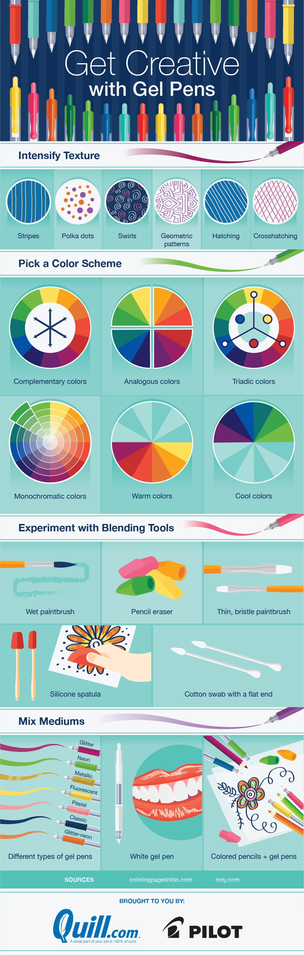 Explore the Artist in You: Having Fun with Gel Pens - Infographic