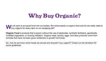 Guide to Buying Organic - Infographic