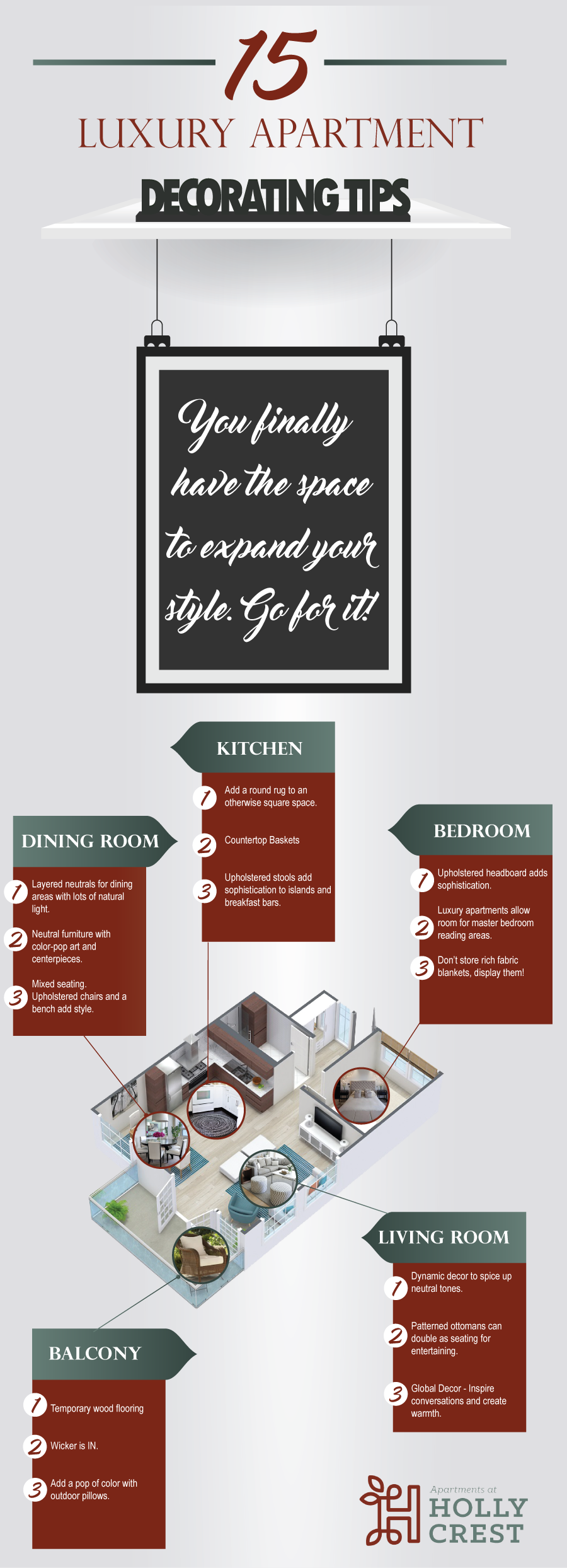 Tips for Doing Up Your Luxury Apartment - Infographic