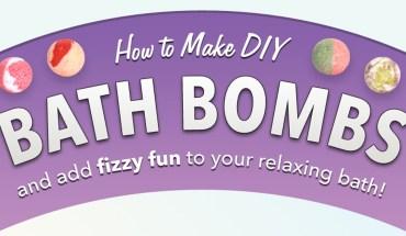 DIY: Natural Bath Bomb - Infographic