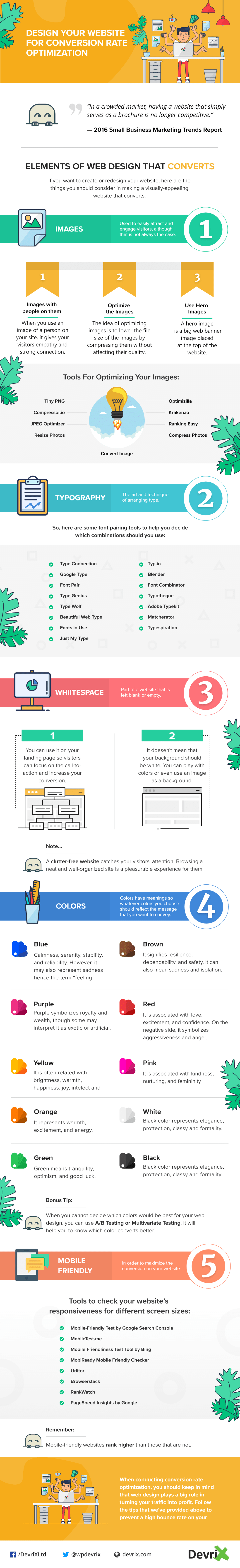 How to Optimize Your Website for Conversions: The 5-Point Guide - Infographic